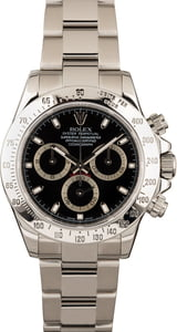 PreOwned Rolex Daytona 116520 Black Dial Serial Engraved