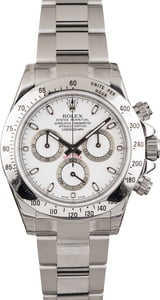 Unworn Rolex Daytona 116520 White Dial Serial Engraved