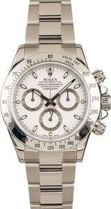 Pre-Owned Rolex 116520 Daytona White Dial