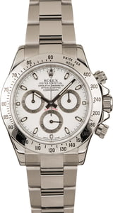 Pre-Owned Rolex Daytona 116520 White Dial Steel Watch