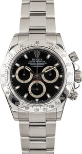 Pre Owned Steel Rolex Daytona 116520 Black Dial