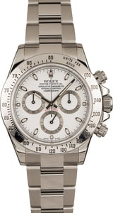 Pre-Owned 40MM Rolex Daytona 116520 White Dial