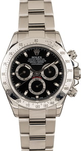 Pre-Owned Rolex Daytona Steel 116520 Black Dial Watch