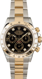 PreOwned Rolex Daytona 116523 Black Diamond Dial