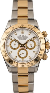 Pre-Owned Rolex Daytona Two Tone 116523 White Dial