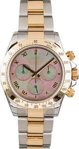 Pre Owned Black Mother of Pearl Rolex Daytona 116523