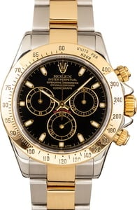 Rolex Daytona Two Tone 116523 Black Dial
