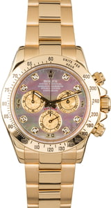 Rolex Daytona 116528 Black Mother of Pearl Diamond Dial