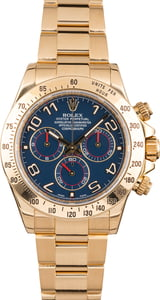 Rolex Gold Daytona 116528 Blue Arabic Dial