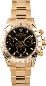 PreOwned Rolex Daytona 116528 Yellow Gold Oyster