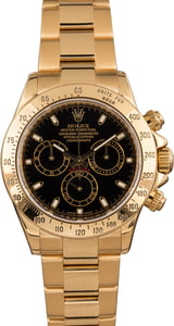 18K Yellow Gold Rolex Daytona Black Dial