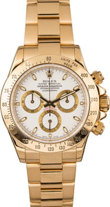 Pre Owned Rolex Daytona 116528 White Dial