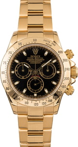 Pre-Owned Rolex Daytona 116528 Black Dial