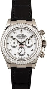 Rolex Daytona 116589 White Gold Case with Diamond Bezel