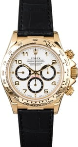 Rolex Daytona 16518 Yellow Gold Case White Dial