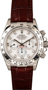 Rolex Daytona 16519 White Diamond Dial