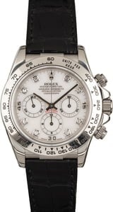 Used Rolex Daytona 16519 White Diamond Dial