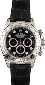 Used Rolex Daytona 16519 Black Diamond Dial