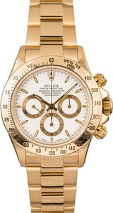 18K Yellow Gold Rolex Daytona White Dial
