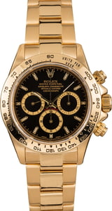 Yellow Gold Rolex Daytona 16528 Black Dial