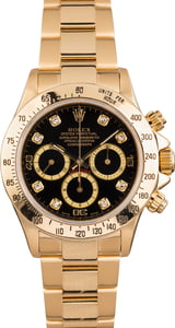 PreOwned Rolex Daytona Cosmograph 16528 with Diamond Dial