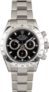 Pre Owned Rolex Daytona Steel 116520 Black Dial