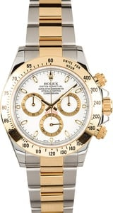 Rolex Daytona Two Tone 116523 White Dial