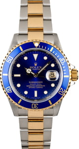 Men's Rolex Blue Dial Submariner 16613