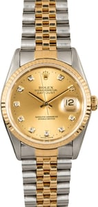 Rolex Diamond Dial Datejust 16233