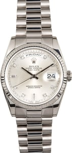 Rolex Diamond President 118239 White Gold