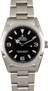 Used Rolex Explorer 14270 Black Dial