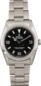 Used Rolex Explorer 14270 Black Arabic Dial