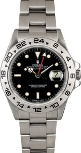 Rolex Explorer 16550 Black Dial with Red GMT Hand