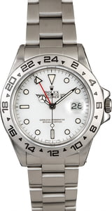 White Dial Rolex Explorer 16550 Steel Oyster