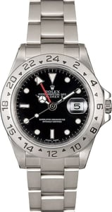 Genuine Rolex Explorer II 16570 Black Dial
