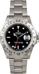 Pre-Owned Men's Rolex Explorer II Ref 16570 Black Dial