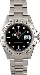Certified PreOwned Rolex Explorer II Ref 16570 Black Dial