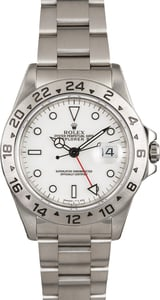 Men's Rolex Explorer II Ref 16570 White Dial