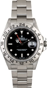 Certified Men's Rolex Explorer II Ref 16570 Black Dial