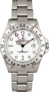 Certified PreOwned Rolex Explorer II Ref 16570 White Dial