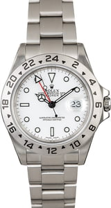 Rolex Explorer II Ref 16570 White Dial Certified Pre-Owned