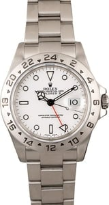 Rolex Explorer II Ref 16570 White Dial Men's Watch