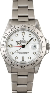 Pre-Owned Rolex Explorer II Ref 16570 White 'Polar' Dial