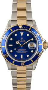 PreOwned Rolex Submariner 16613 Blue Bezel Insert
