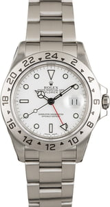 PreOwned Rolex Explorer II Ref 16570 White Dial Stainless Steel