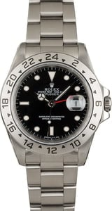 Rolex Explorer II Stainless 16570 Black Dial Certified Pre Owned