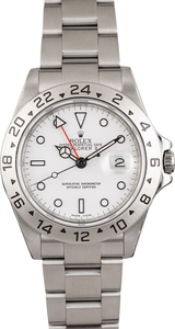 Used Rolex Explorer II Ref 16570 White Dial Serial Engraved