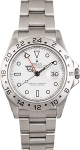 Used Rolex Explorer II Steel 16570 White Dial Serial Engraved
