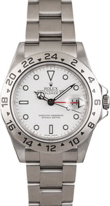 Used Rolex Explorer II Ref 16570 White Dial Men's Watch
