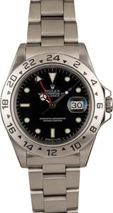 Used Rolex Black Dial Explorer II Ref 16570